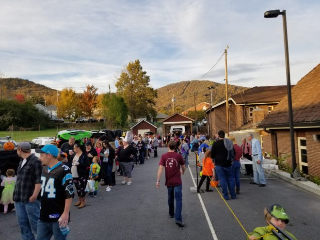 crowd at Yancey County Fall Festival