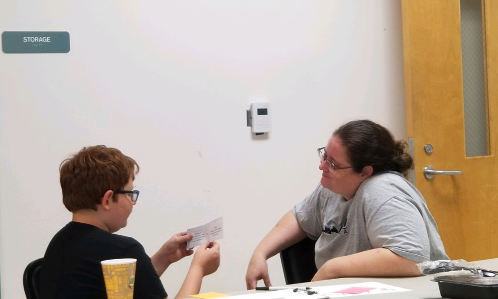 Mother & son role playing difficult conversations