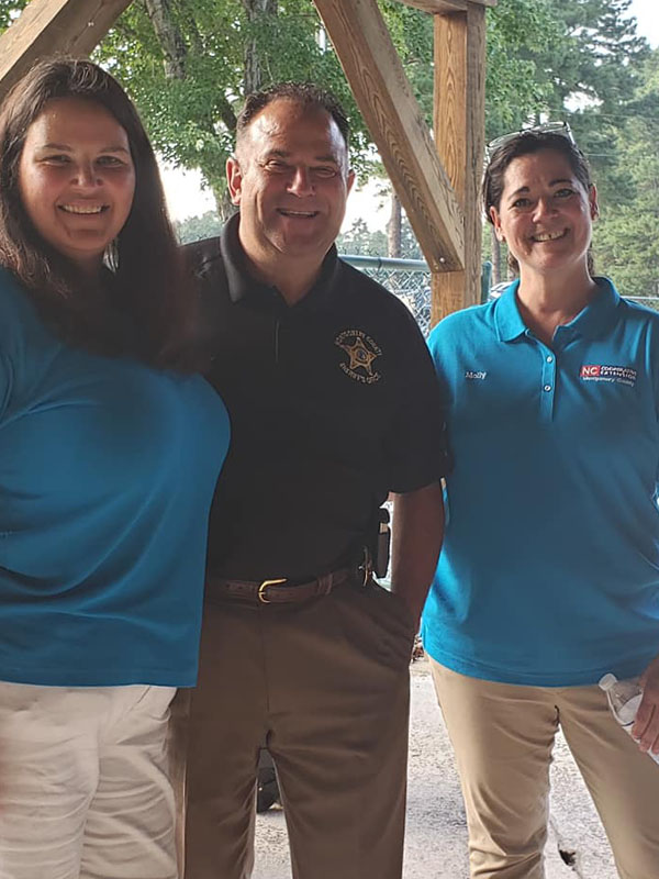 EYFP staff with Sheriff
