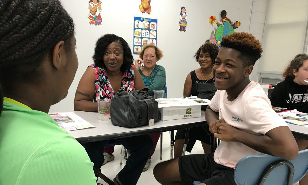 Parents discuss support of their youths goals