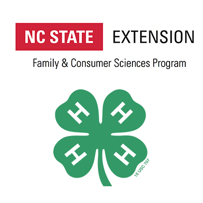 NC State Extension and 4-H Clover logos