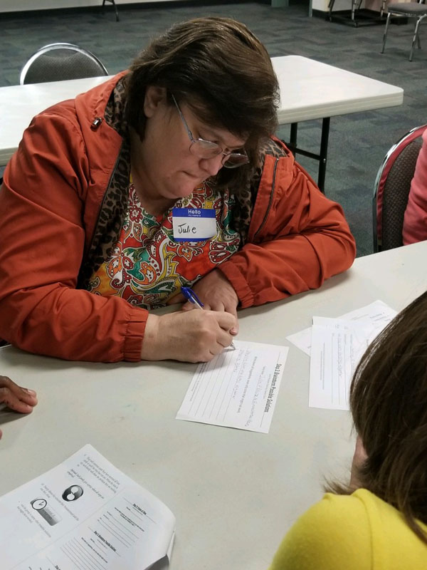 Parent brainstorms possible solutions with youth regarding family problems.