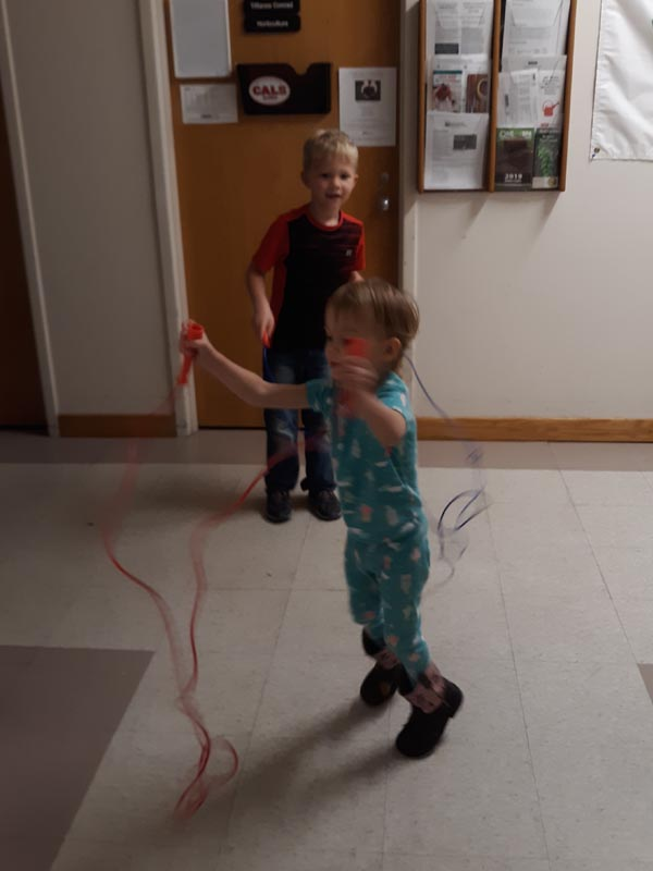 Child care fun while the families are in class.