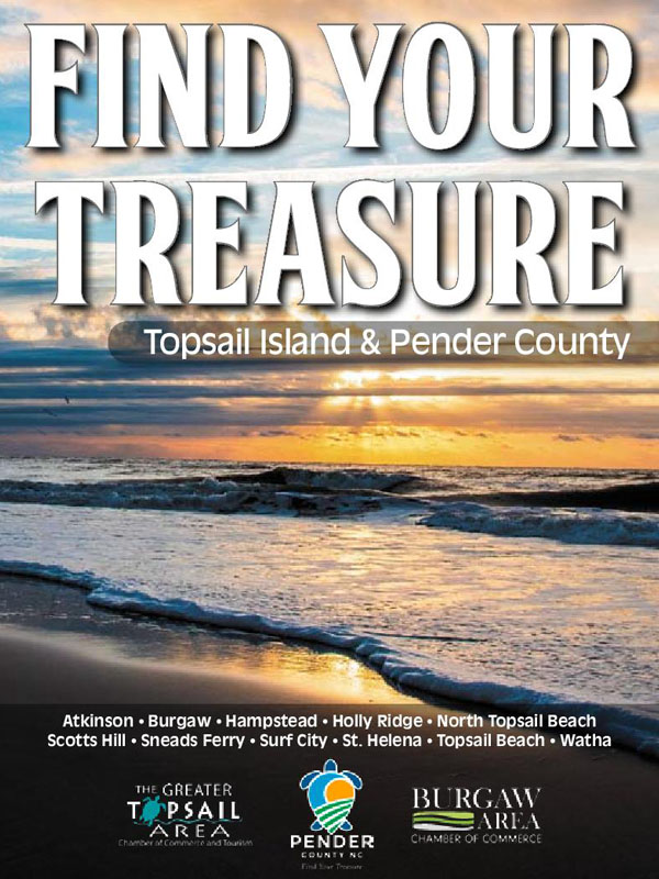 Pender County Find Your Treasure Guide.