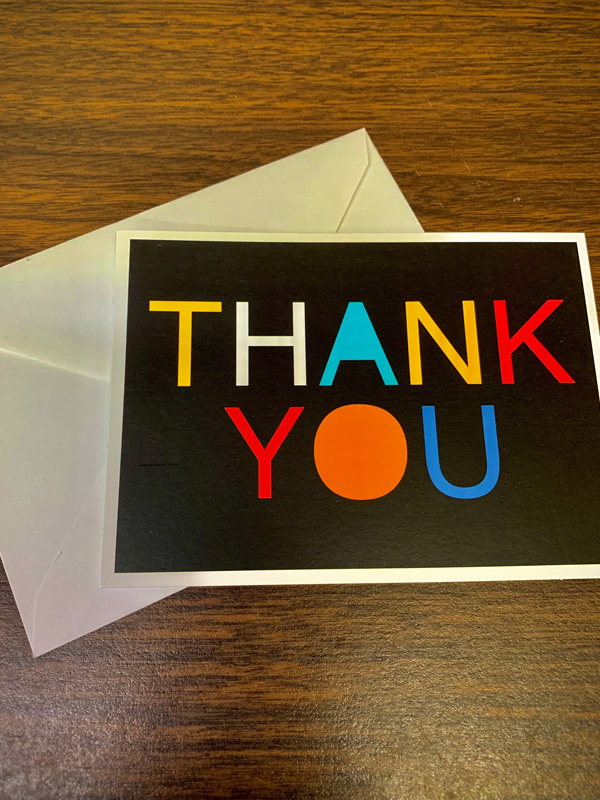 The youth wrote thank you cards for some of the adults in their lives and they really enjoyed getting to give back to those people that have inspired them and helped them.