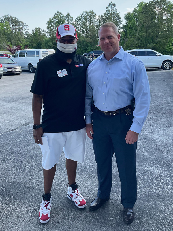 EYFP Program Assistant, Lee A. Stiles, and Carteret County Sheriff Asa Buck