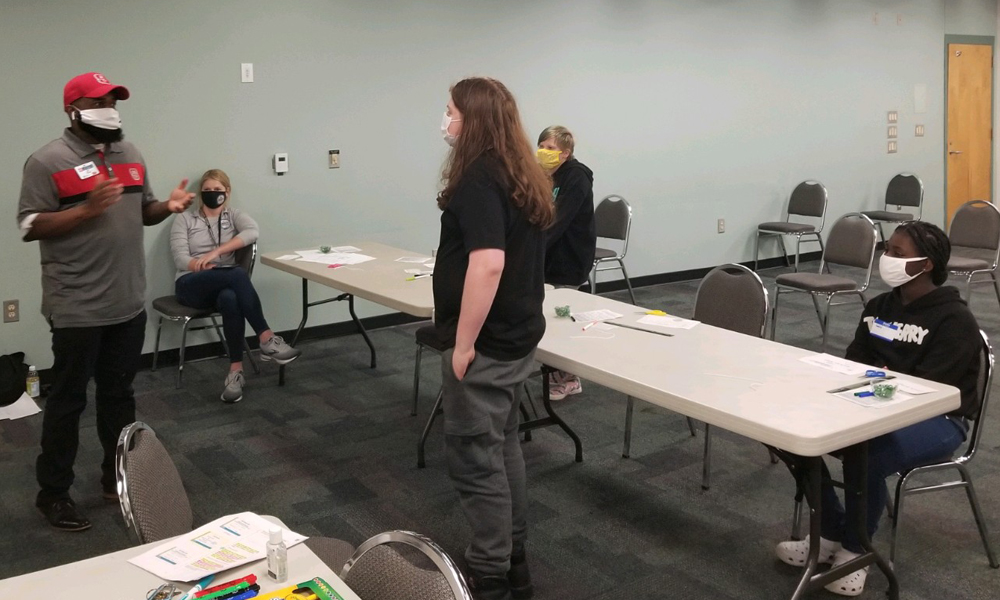 Role playing safe choices with youth
