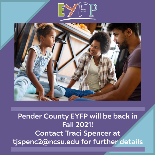 Pender County EYFP Fall 2021 poster